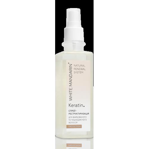 Спрей-реструктуризация для окрашенных и поврежденных волос. PROTECTION White Mandarin
