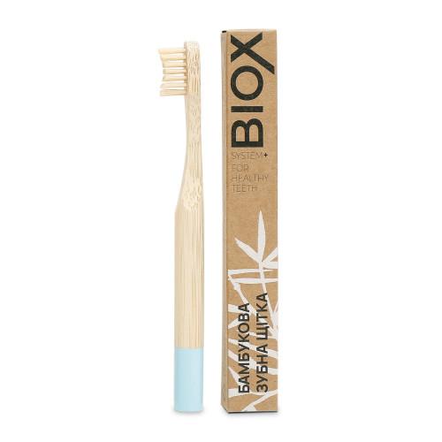 """Детская бамбуковая зубная щетка """"BIOX"""" - Голубого цвета"""