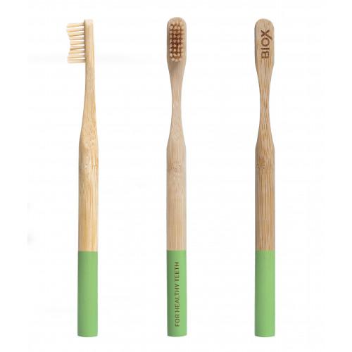 Бамбуковая зубная щётка BIOX - Зелёный цвет