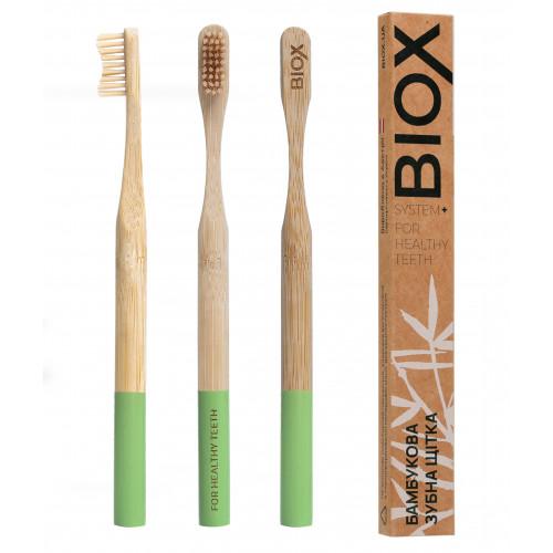 """Бамбукова зубна щітка """"BIOX"""" - Зеленого кольору"""