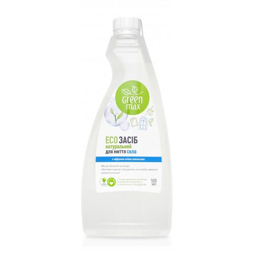 """ЭКО-Средство натуральное для мытья стекол с крышкой """"Green Max"""" (500 мл)"""