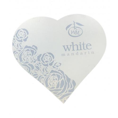 """Коробка подарункова біла """"Серце WM"""" (ламіноване ДВП)"""