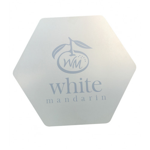 Коробка подарункова біла шестикутна (ламіноване ДВП)