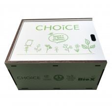 """Коробка-пенал подарочная белая """"Choice"""" (ламинированное ДВП)"""